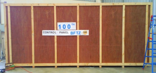 ZI-ARGUS Thailand delivers the 100th control panel from their new Free Trade Assembly Facility